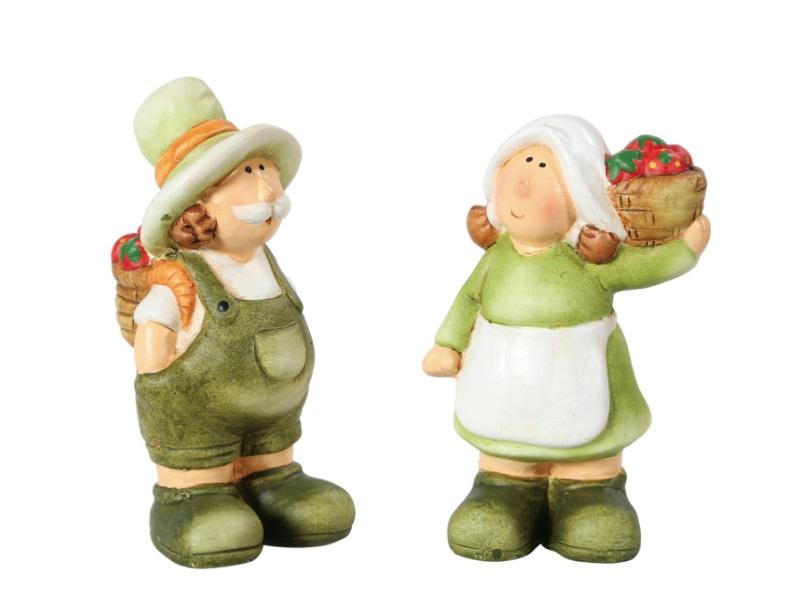 Heide und Klaus Figuren Keramik GRÜN 5x5x11cm