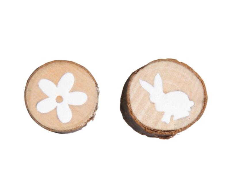 Astscheibe mit Blüte x36 und H natur 3cm