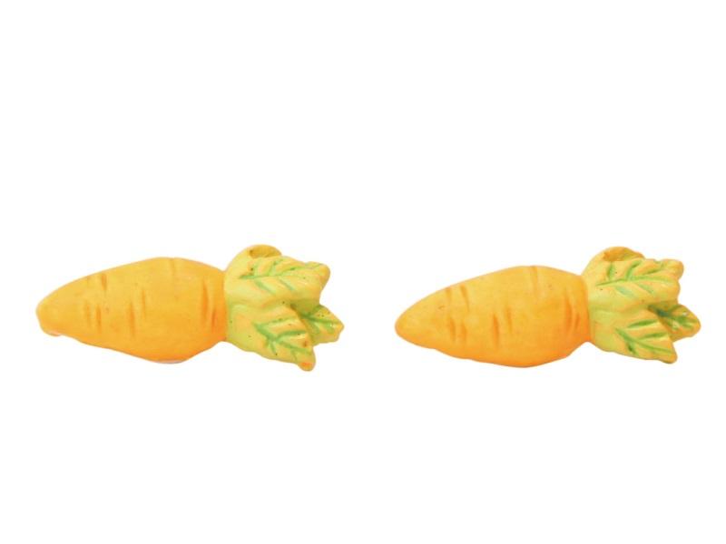 24er Set Möhren aus Poly Streudeko Tischdeko orange 3cm