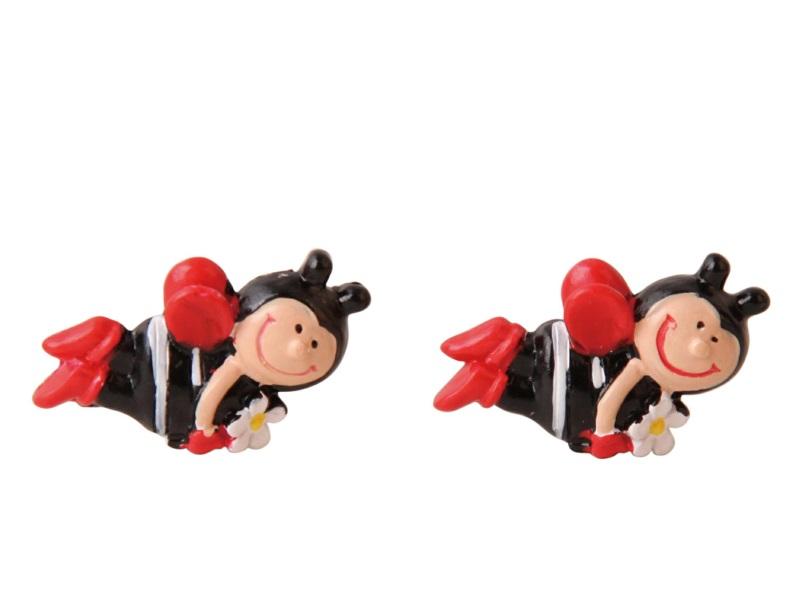 8 Marienkäfer aus Poly Streudeko Tischdeko rot 3cm