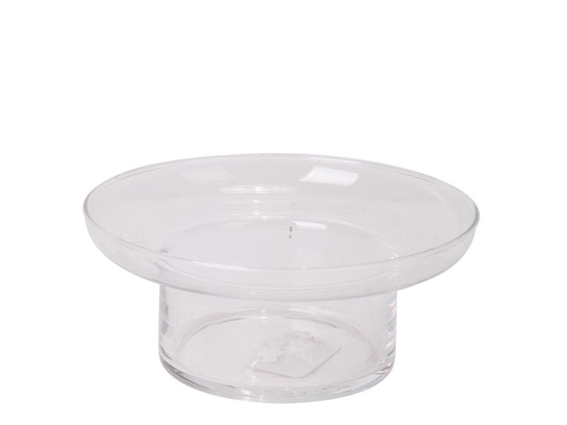 Glasschale Windlicht perfekte Tischdekoration für Schwimmkerzen H7/Ø16 cm