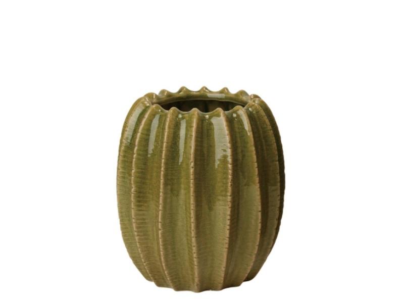 Blumenvase Vase hoch Janga grün 18x19,5cm