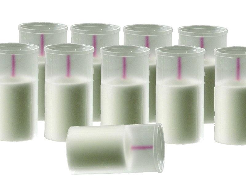 Grabkerzen Grablichter Windlicht Weiß ohne Deckel 10 Stk-Brenndauer 12h -H12cmxØ5cm