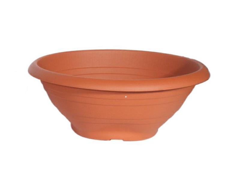 """Pflanzenschale """"CAMPANA"""" aus Kunststoff in Terracotta Ø 25 cm"""