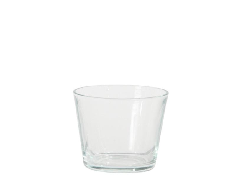 Glasvase Blumenvase konisch  (Höhe 7 - Ø 7 cm)