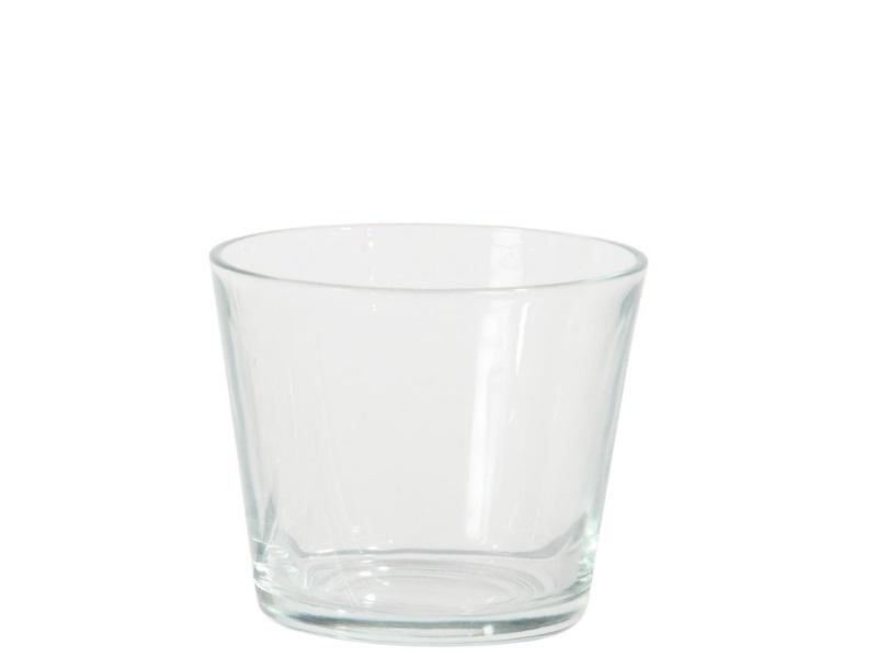 Glasvase Blumenvase konisch  (Höhe 8,5 - Ø 9,5 cm)