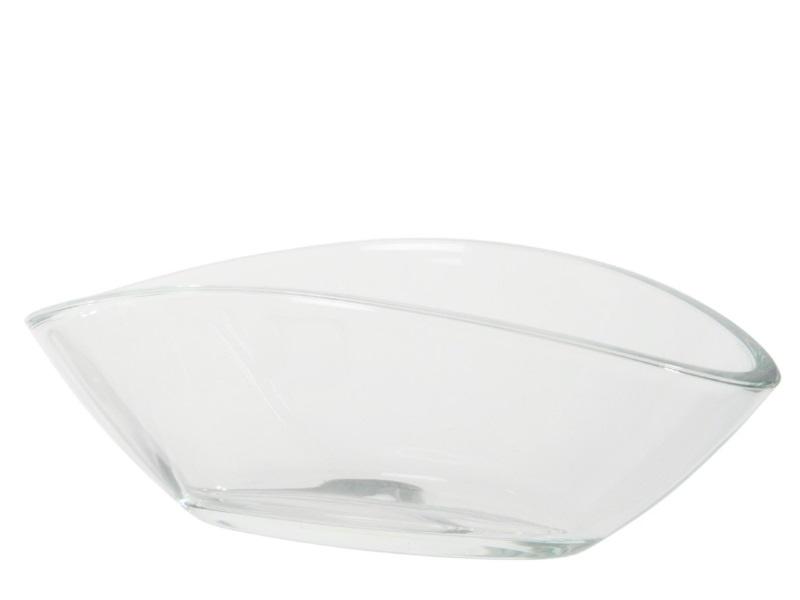 Glasschale Schale  (Breite 25,5 - Tiefe 12 cm - Höhe 9,5 cm)