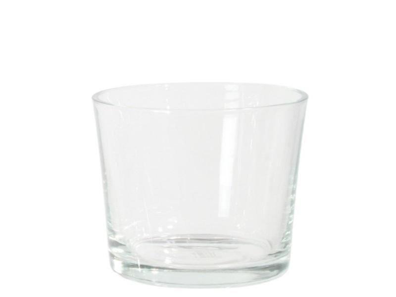 Glaszylinder Glasvase Blumenvase  (Höhe 13 cm - Ø 12,5 cm)