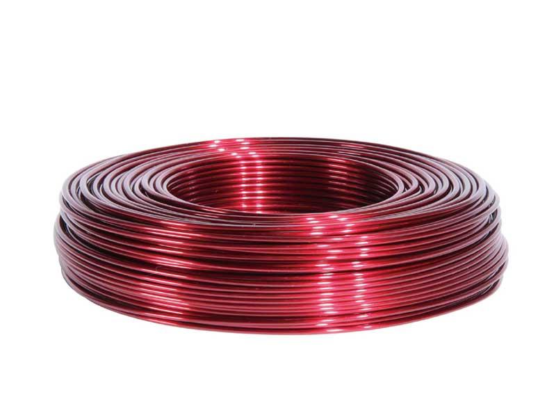Aluminiumdraht, Basteldraht, Floristik Ø 2 mm - 60 m, Farbe Farbe Bordeaux