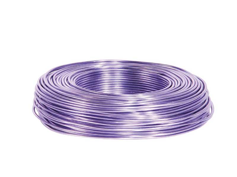 Aluminiumdraht, Basteldraht, Floristik Ø 2 mm - 60 m, Farbe Farbe Lavendel