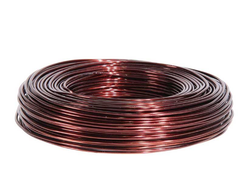 Aluminiumdraht, Basteldraht, Floristik Ø 2 mm - 60 m, Farbe Farbe Brandy
