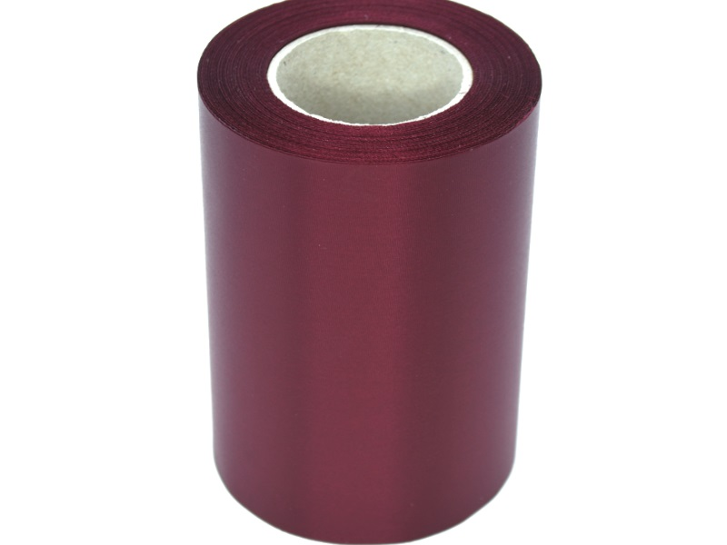Kranzband Super-Satin 100mm x 25m - Farbe Kardinalrot