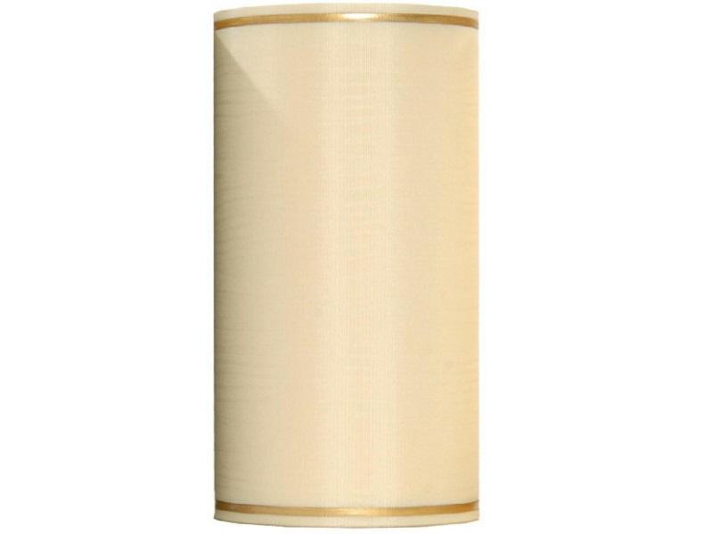 Kranzband -100mm x 25m  Moire m. Goldrand - Farbe Creme