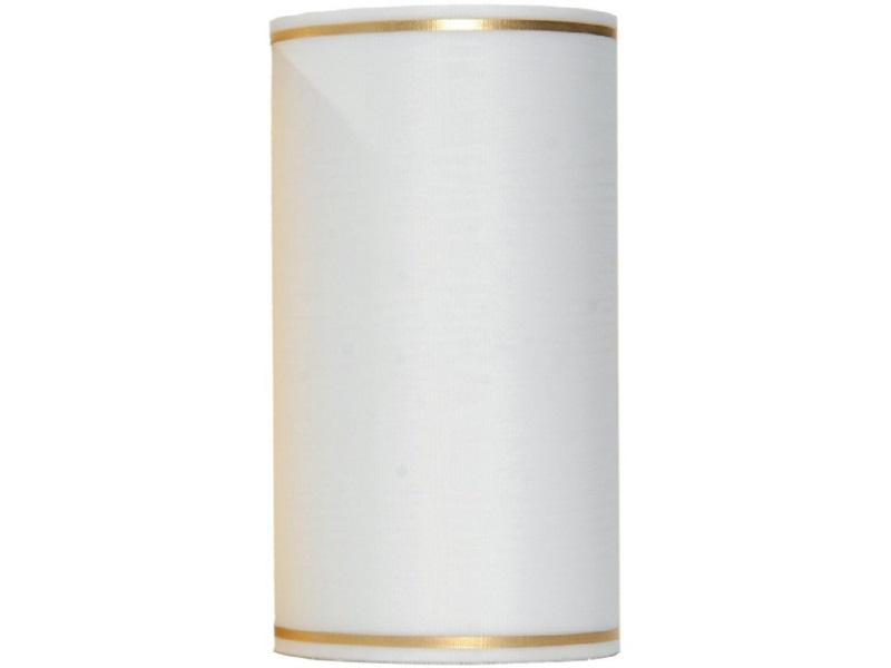 Kranzband -150mm x 25m  Moire m. Goldrand - Farbe Weiss