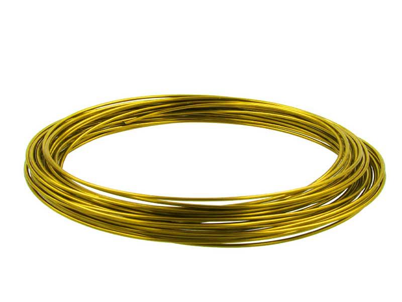 Aluminiumdraht, Basteldraht, Floristik - Ø 2 mm - 12 m Gold