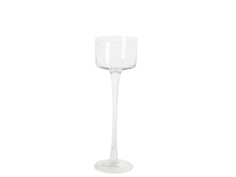 Glaszylinder mit Fuß, Höhe 25 cm - Ø 9 cm