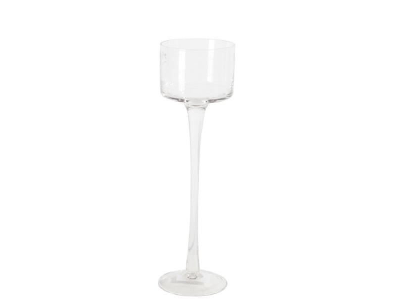 Glaszylinder mit Fuß, Höhe 30 cm - Ø 9 cm