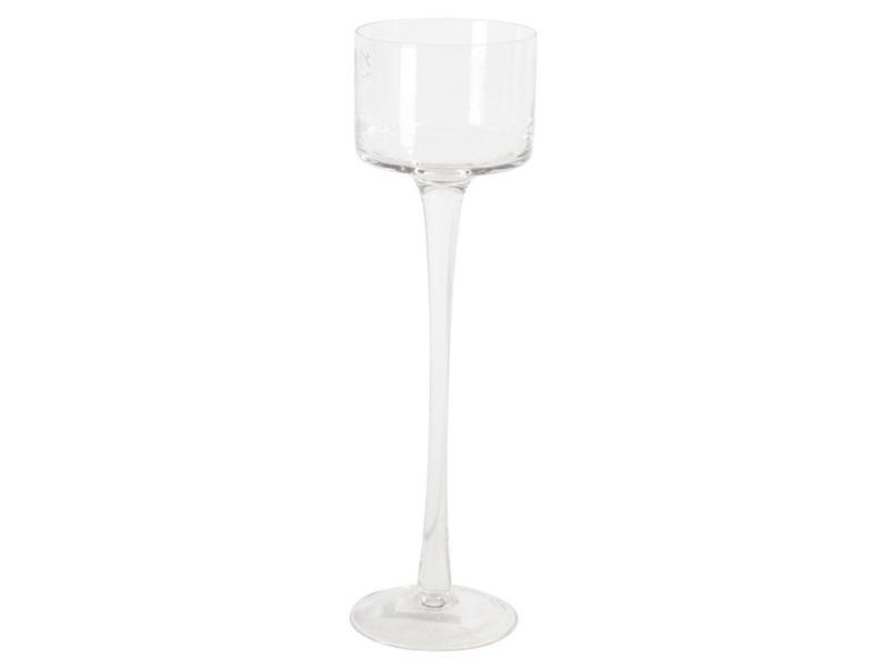 Glaszylinder mit Fuß, Höhe 35 cm - Ø 9 cm