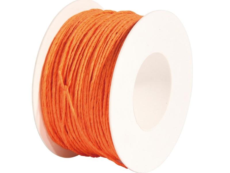 Qualitäts Papierdraht Deko-Draht, Basteldraht, Ø 2mm x 100m - Farbe Orange
