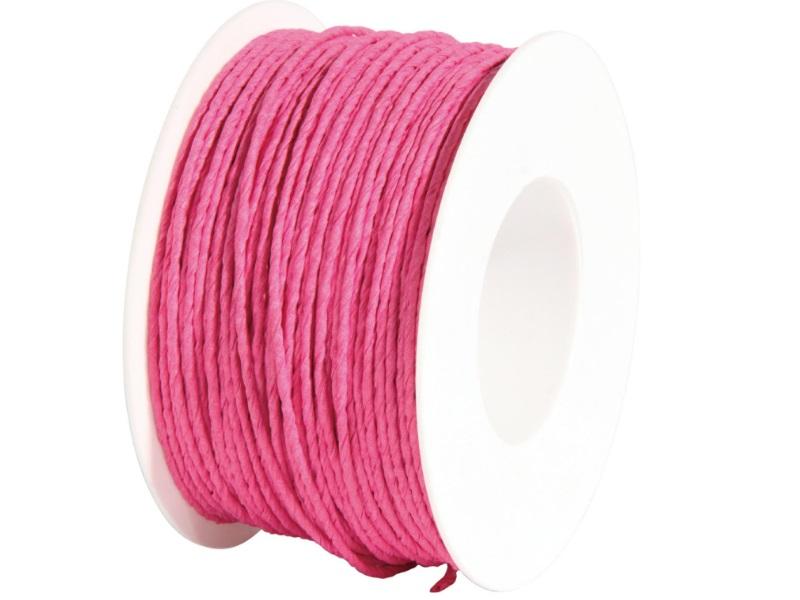 Qualitäts Papierdraht Deko-Draht, Basteldraht, Ø 2mm x 100m - Farbe Pink