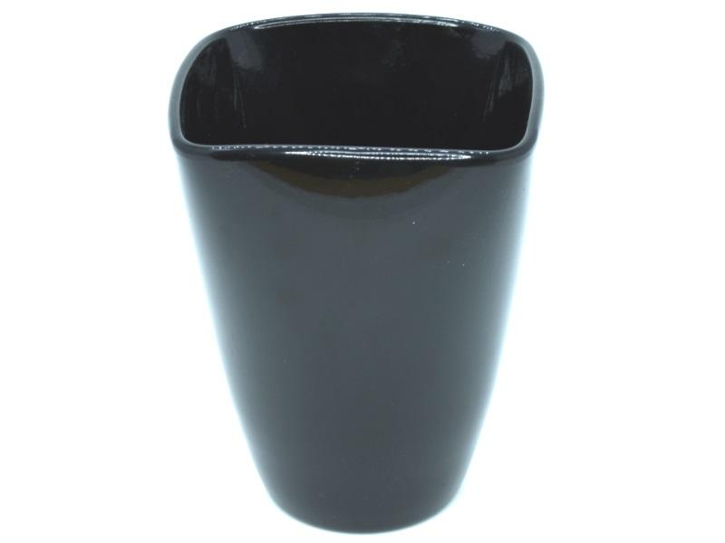 "Übertopf - Pflanzenkübel ""NOIR"" aus Keramik H17cm"