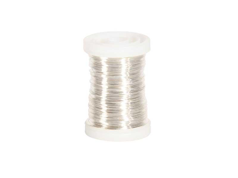 Kupferlackdraht Basteldraht 100g auf Snap Spule, Farbe Silber