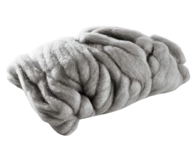Woll-Lunte - Filz-Wolle Ø 30-40mm x 30m - Farbe Grau