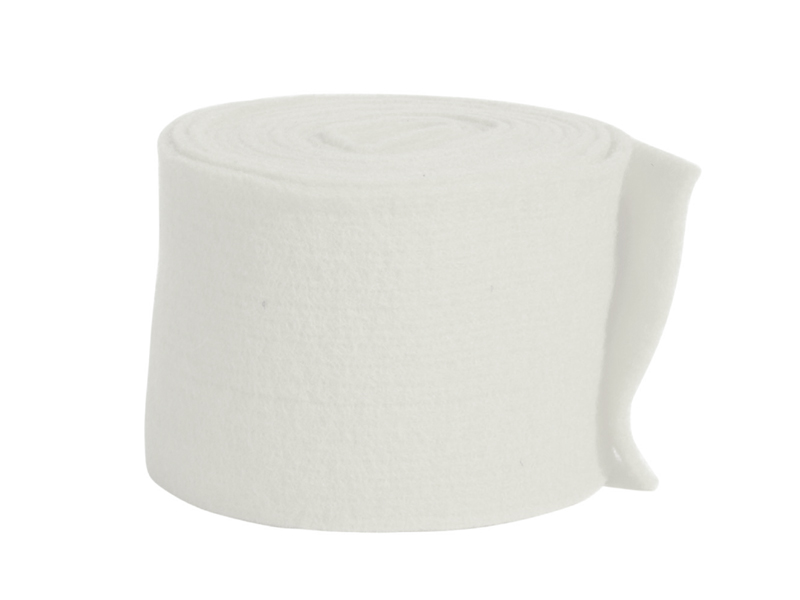 Topfband - Filz-Wolle - Filzband 15cm x 5m - Farbe Weiss