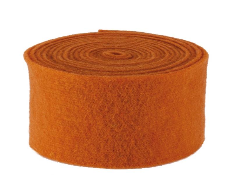 Topfband - Filz-Wolle - Filzband 15cm x 5m - Farbe Orange