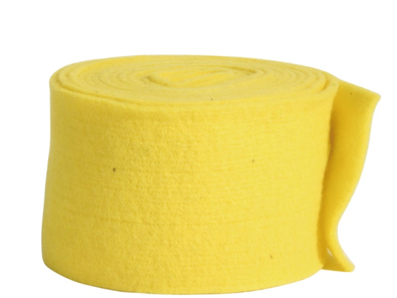Topfband - Filz-Wolle - Filzband 15cm x 5m - Farbe Sonnengelb