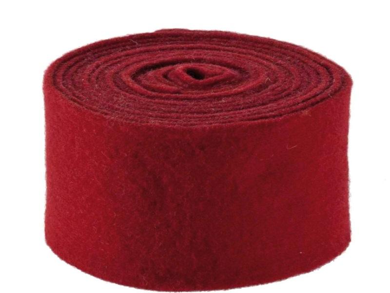 Topfband - Filz-Wolle - Filzband 15cm x 5m - Farbe Rot