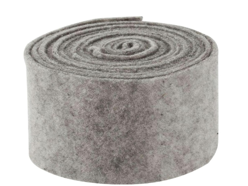 Topfband - Filz-Wolle - Filzband 15cm x 5m - Farbe Grau