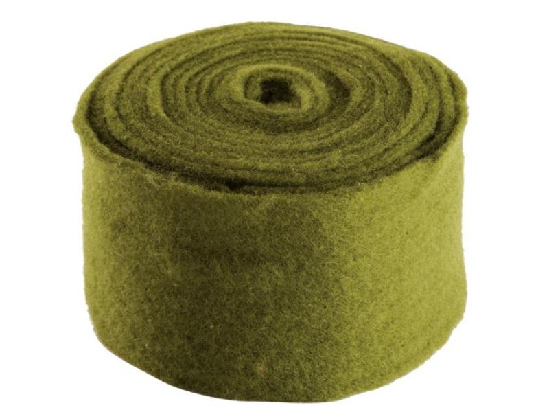 Topfband - Filz-Wolle - Filzband 15cm x 5m - Farbe Grün