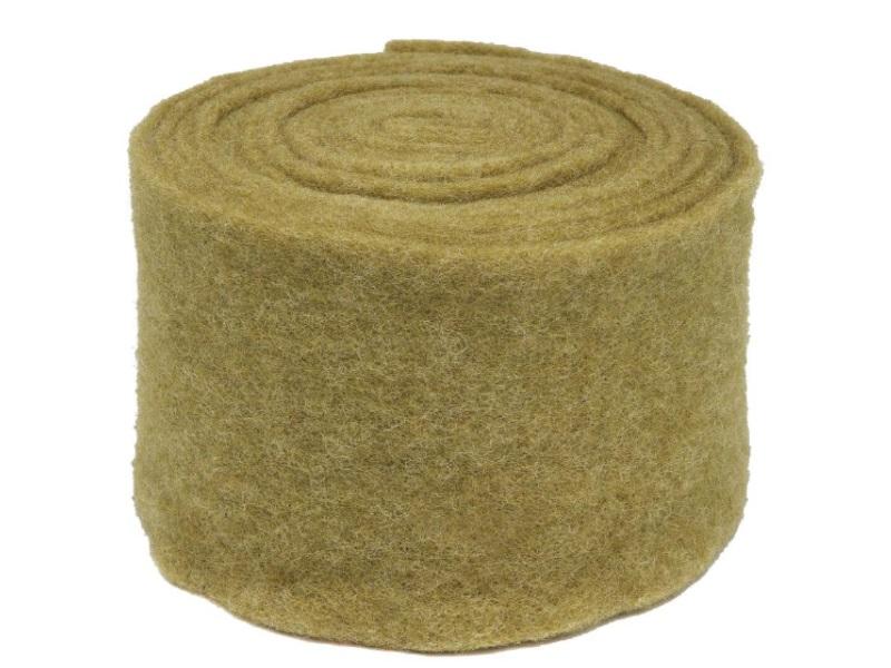 Topfband - Filz-Wolle - Filzband 15cm x 5m - Farbe Oliv