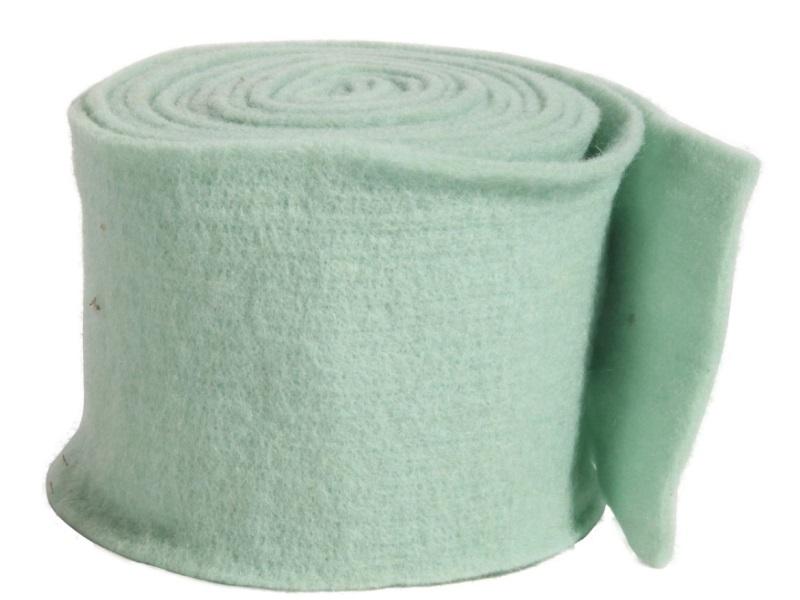 Topfband - Filz-Wolle - Filzband 15cm x 5m - Farbe Mint-Grün
