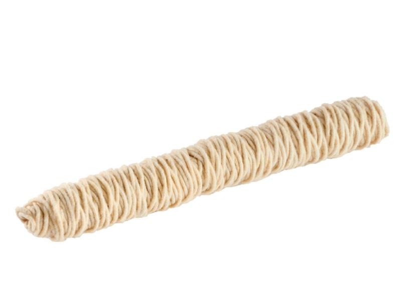 Wollfaden 100% Schafswolle Ø 5mm x 50m - Farbe Creme