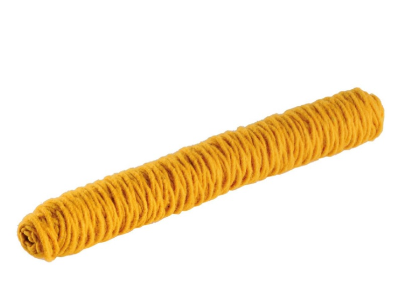 Wollfaden 100% Schafswolle Ø 5mm x 50m - Farbe Gelb