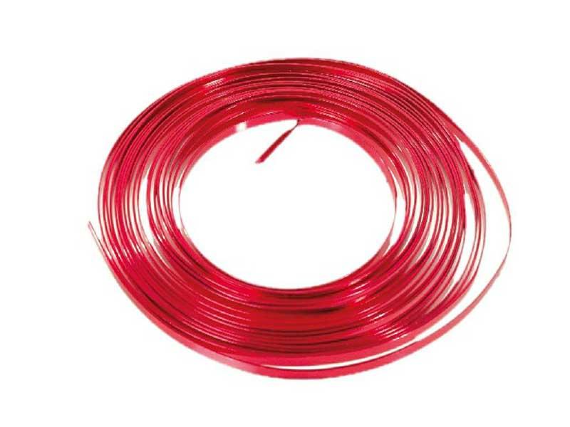 Aluminiumdraht flach 1 mm x 5 mm - 100g, Farbe Rot