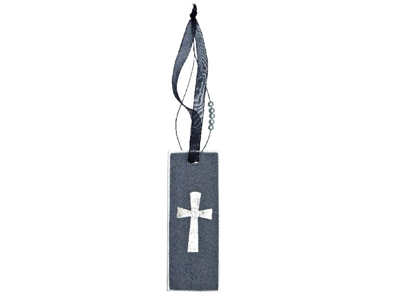 Traueranhänger - Trauerkreuz Grau oder Schwarz  4er Pack - Grau 13cm x 5cm