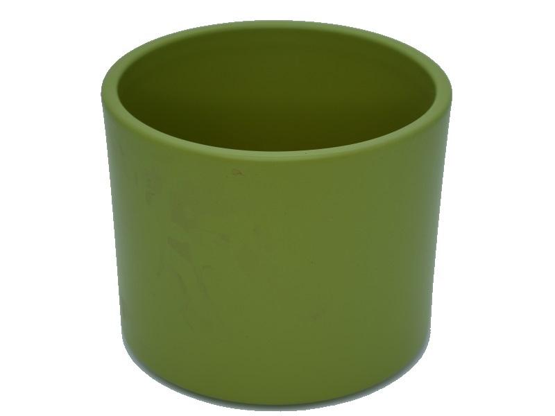 "Pflanzenkübel ""ZYLINDRO"" aus Keramik  Ø 11 cm, Farbe Bambus Matt"