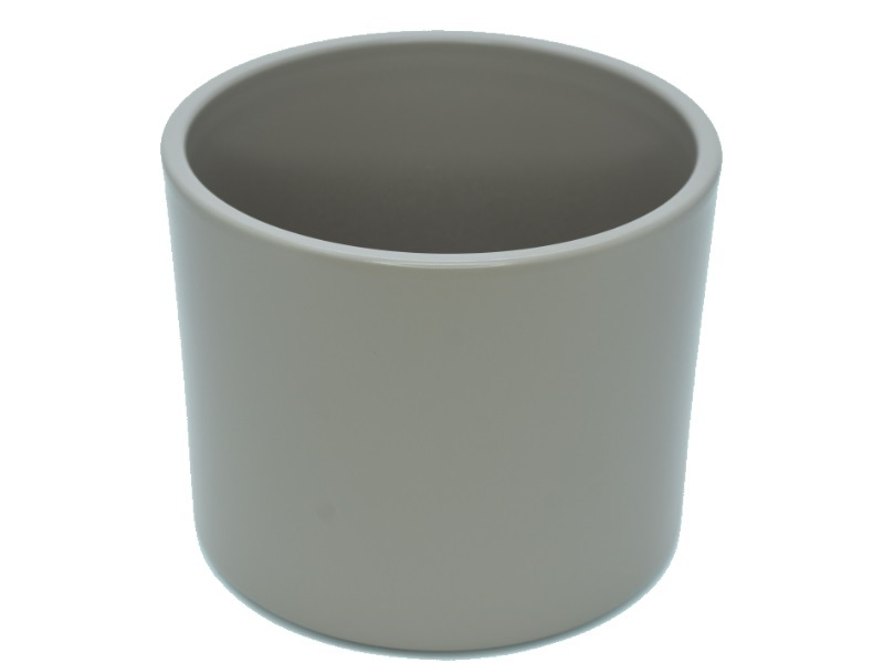 "Pflanzenkübel ""ZYLINDRO"" aus Keramik  Ø 15 cm, Farbe Grau Matt"