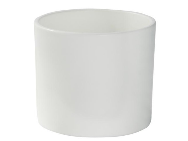 "Pflanzenkübel ""ZYLINDRO"" aus Keramik  Ø 17 cm, Farbe Vanille Matt"