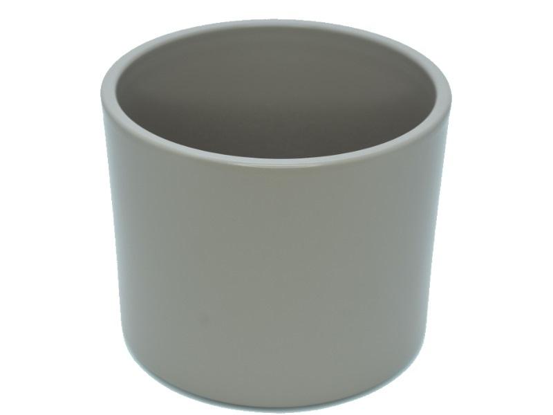 "Pflanzenkübel ""ZYLINDRO"" aus Keramik  Ø 17 cm, Farbe Grau Matt"
