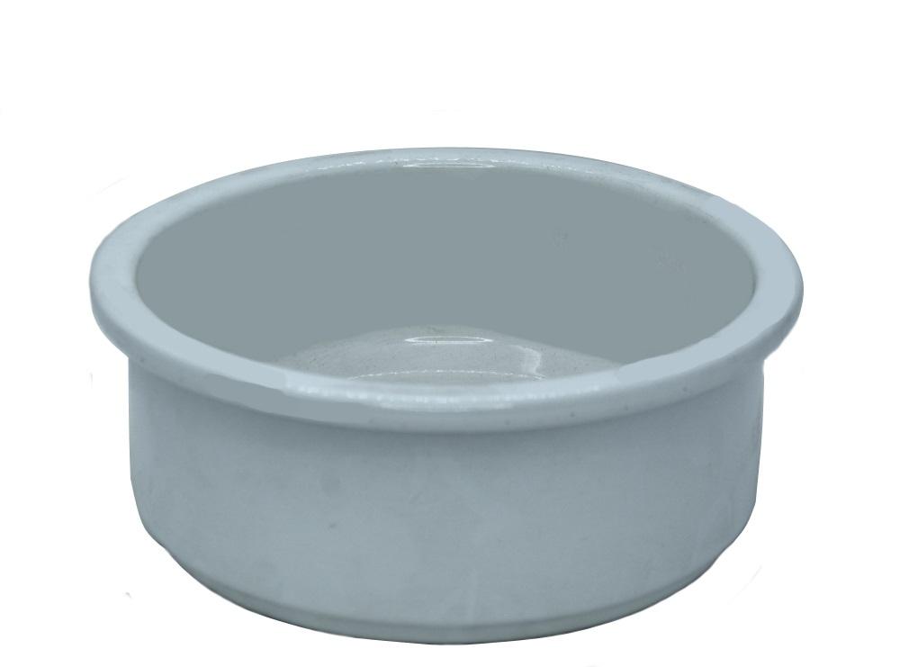 "Pflanzschale ""Z"" Weiss aus Keramik  (Ø 18 cm x Höhe 7,4 cm)"