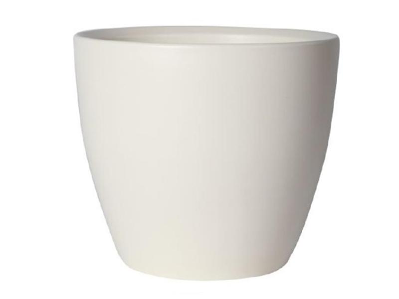 Übertopf - Pflanzenkübel Weiss (Matt) aus Keramik  (Ø 7 cm)