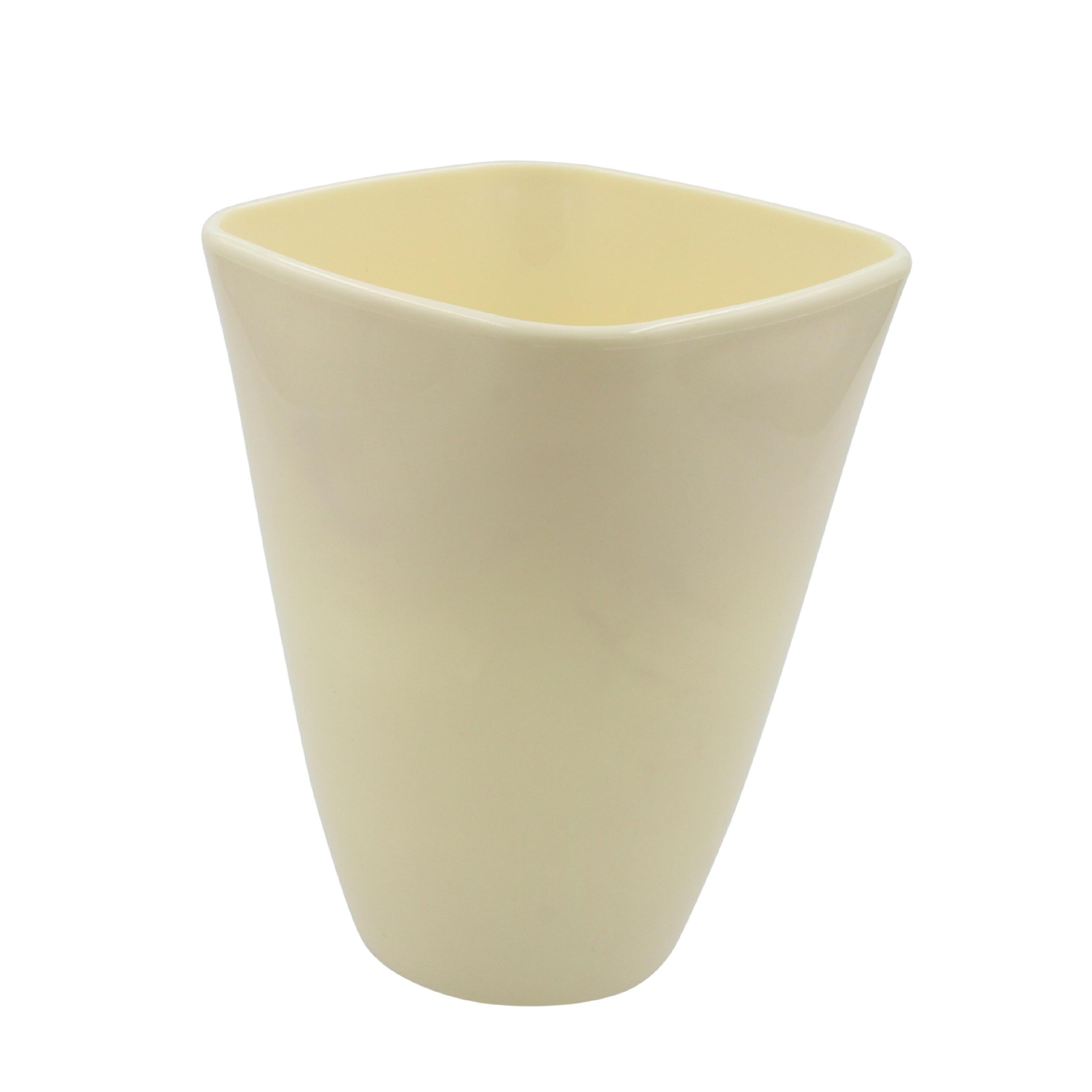 Orchideenvase Ø13/H17cm aus Kunststoff  (Creme)
