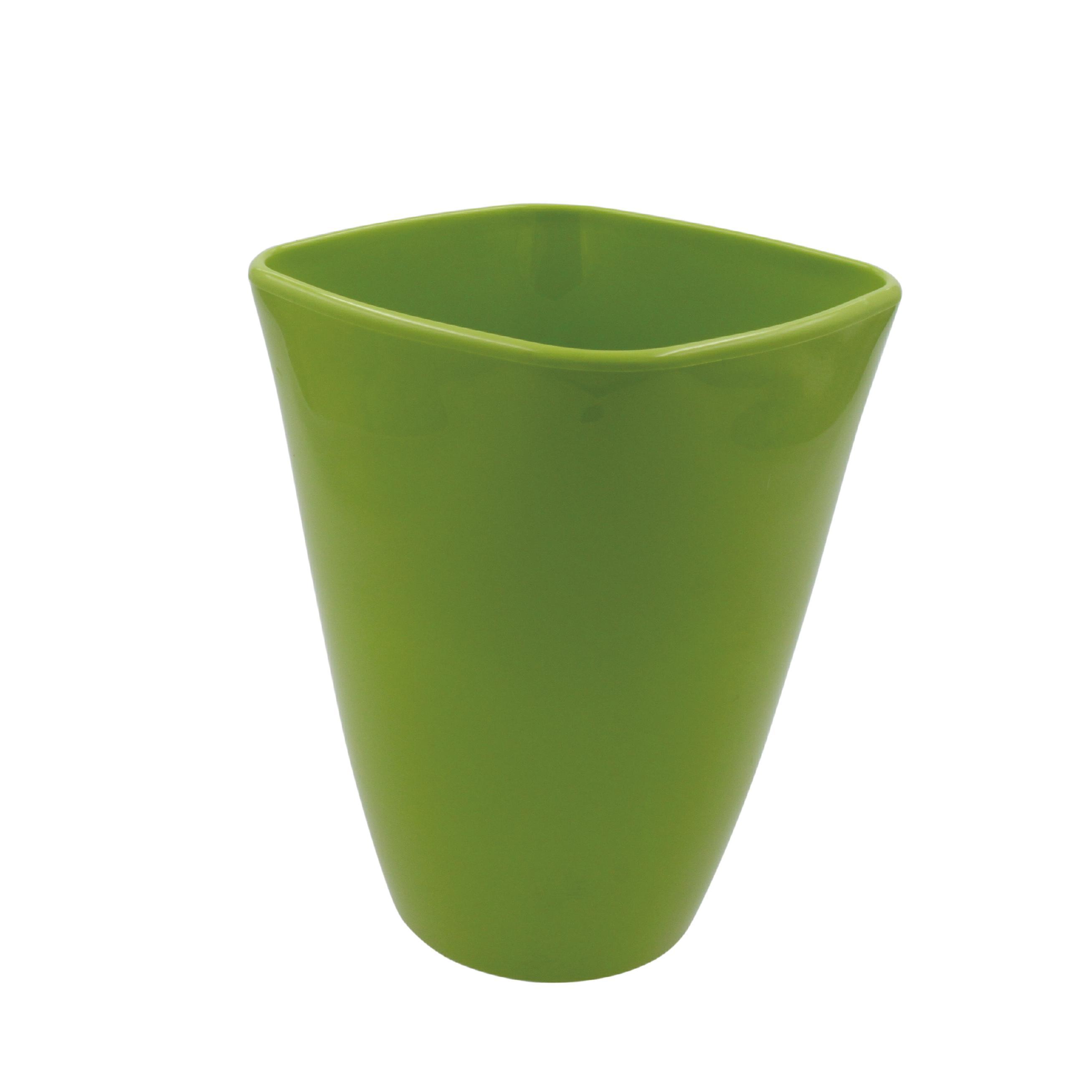 Orchideenvase Ø13/H17cm aus Kunststoff  (Hellgrün)