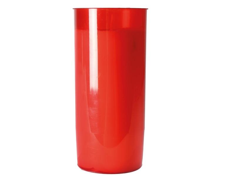 6 Grabkerzen Grablichter Windlichter Rot ohne Deckel Höhe 15 cm
