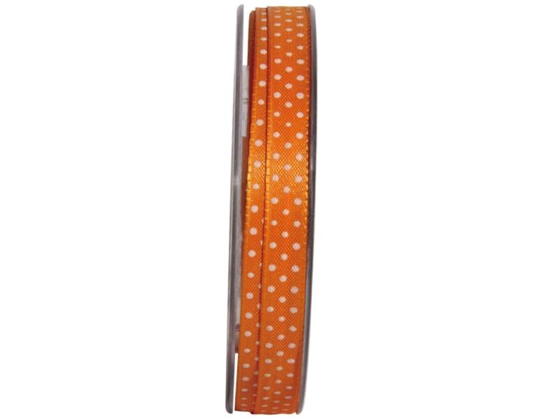 "Qualitäts-Dekoband ""Flashlight"" - 10mm x 25m - (Orange)"