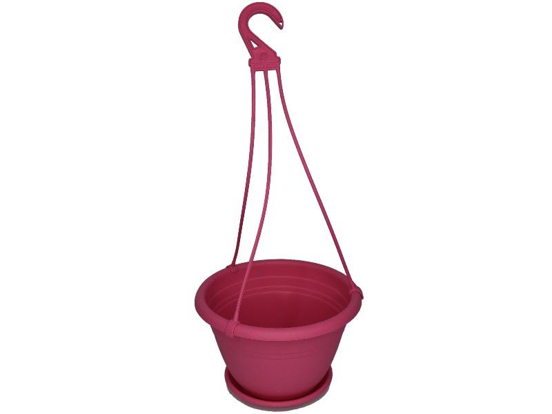 "Blumenampel ""Color"" aus Kunststoff   (Ø 25 cm, Farbe Pink)"